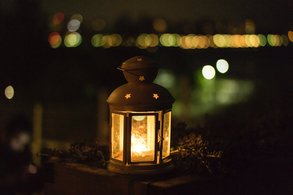 Funeral lantern at ceremony